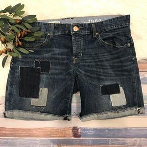 Gap Patchwork Boyfriend Jean Shorts. 29/8